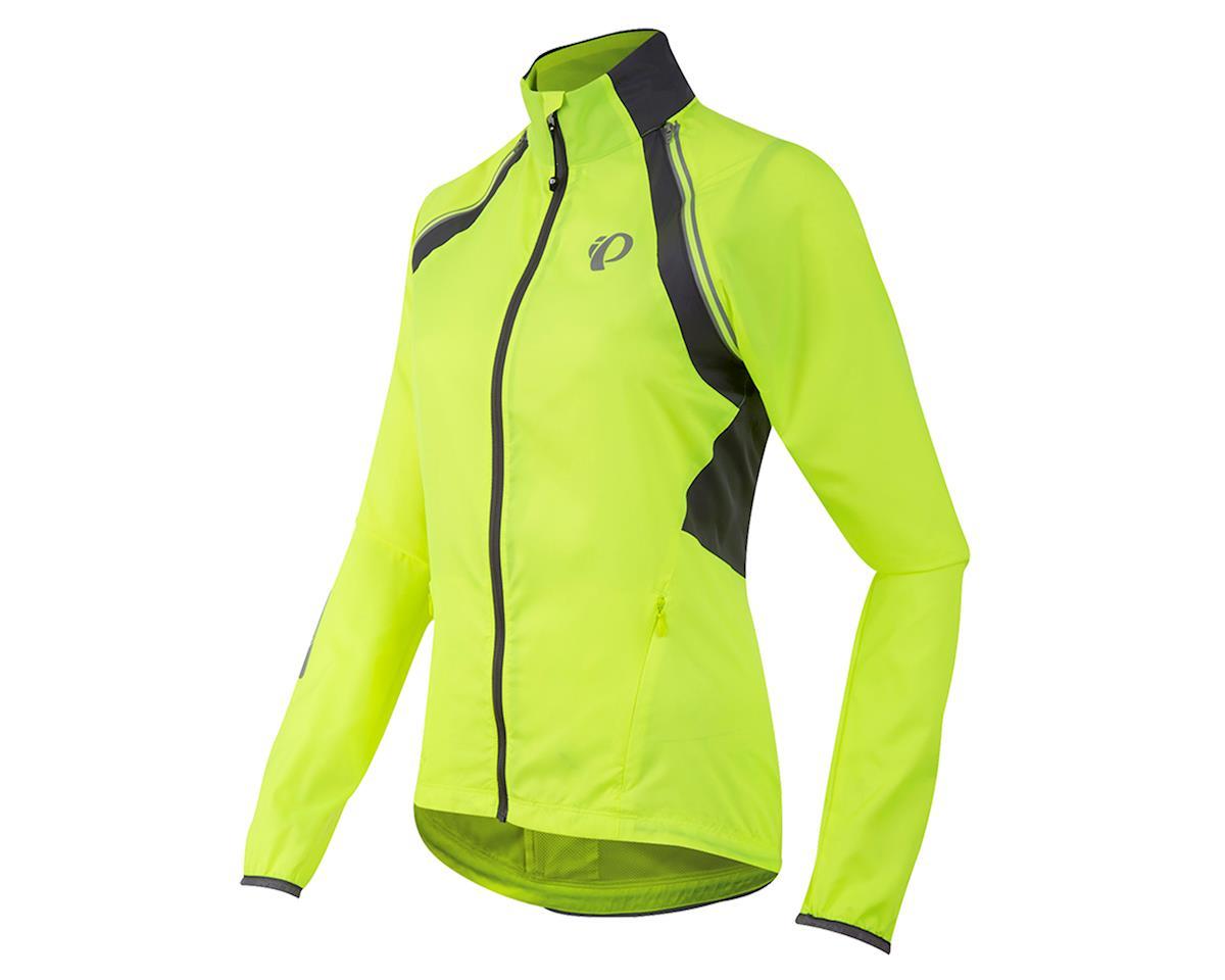 Pearl Izumi Women's Elite Barrier Convertible Jacket (Yellow/Pearl) (L)