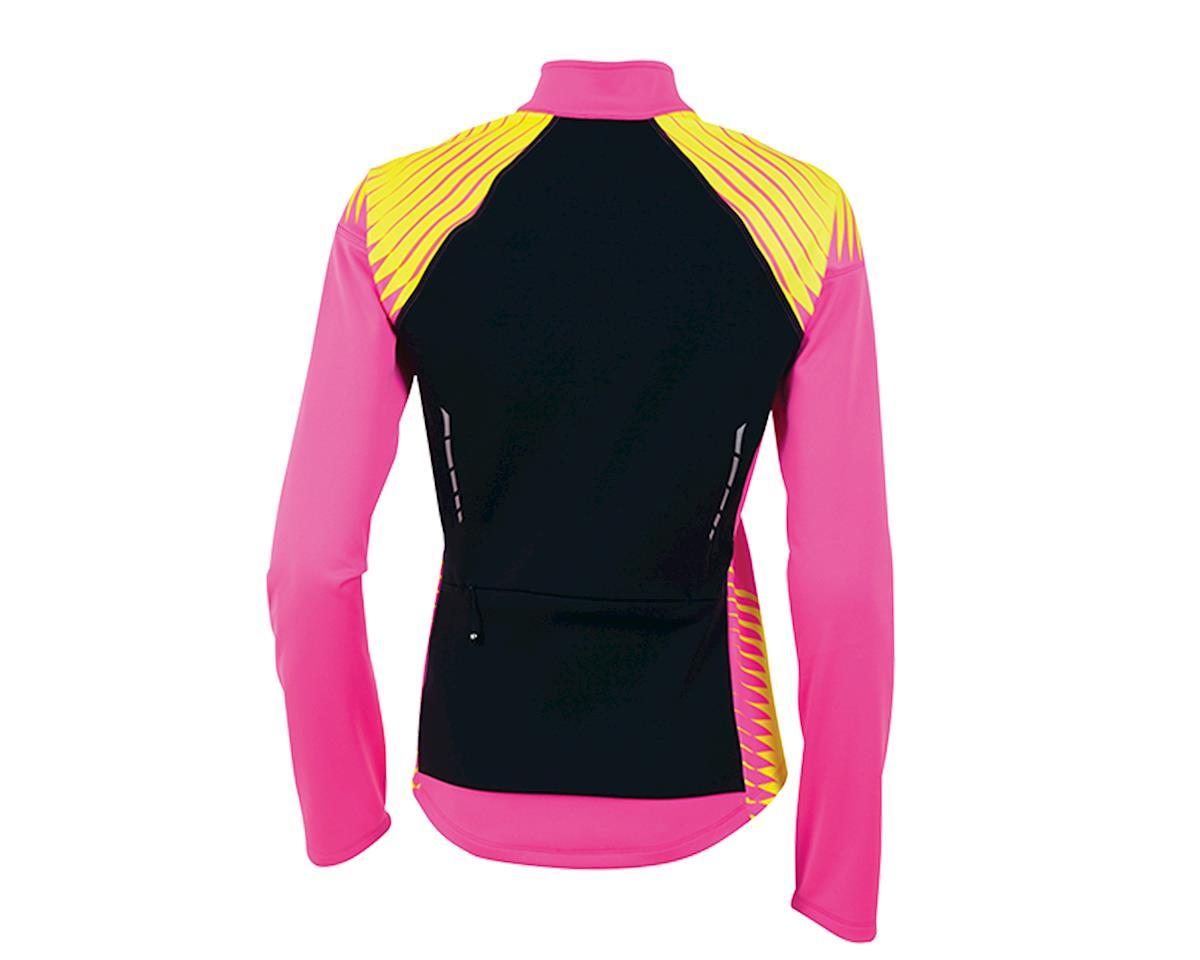 Pearl Izumi Elite Softshell 180 Women's Bike Jacket (Pink/Yellow) (L)