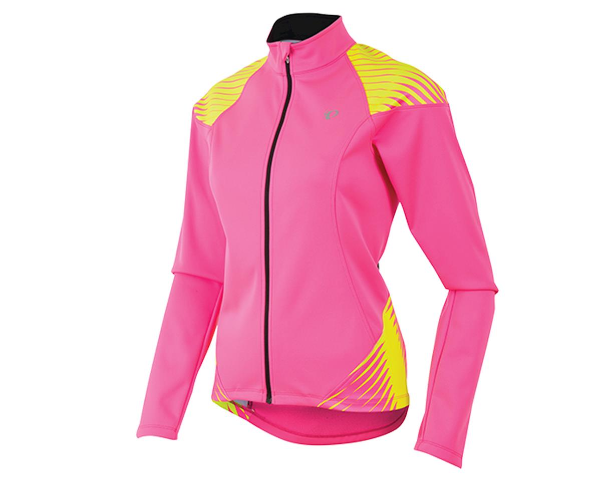 Pearl Izumi Elite Softshell 180 Women's Bike Jacket (Pink/Yellow) (XL)