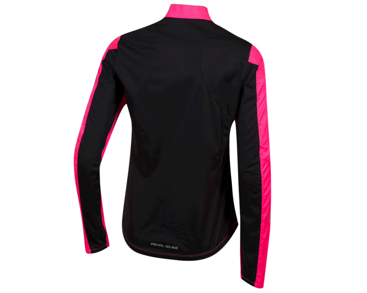 Image 2 for Pearl Izumi Women's Elite Pursuit Hybrid Jacket (Screaming Pink/Black) (M)