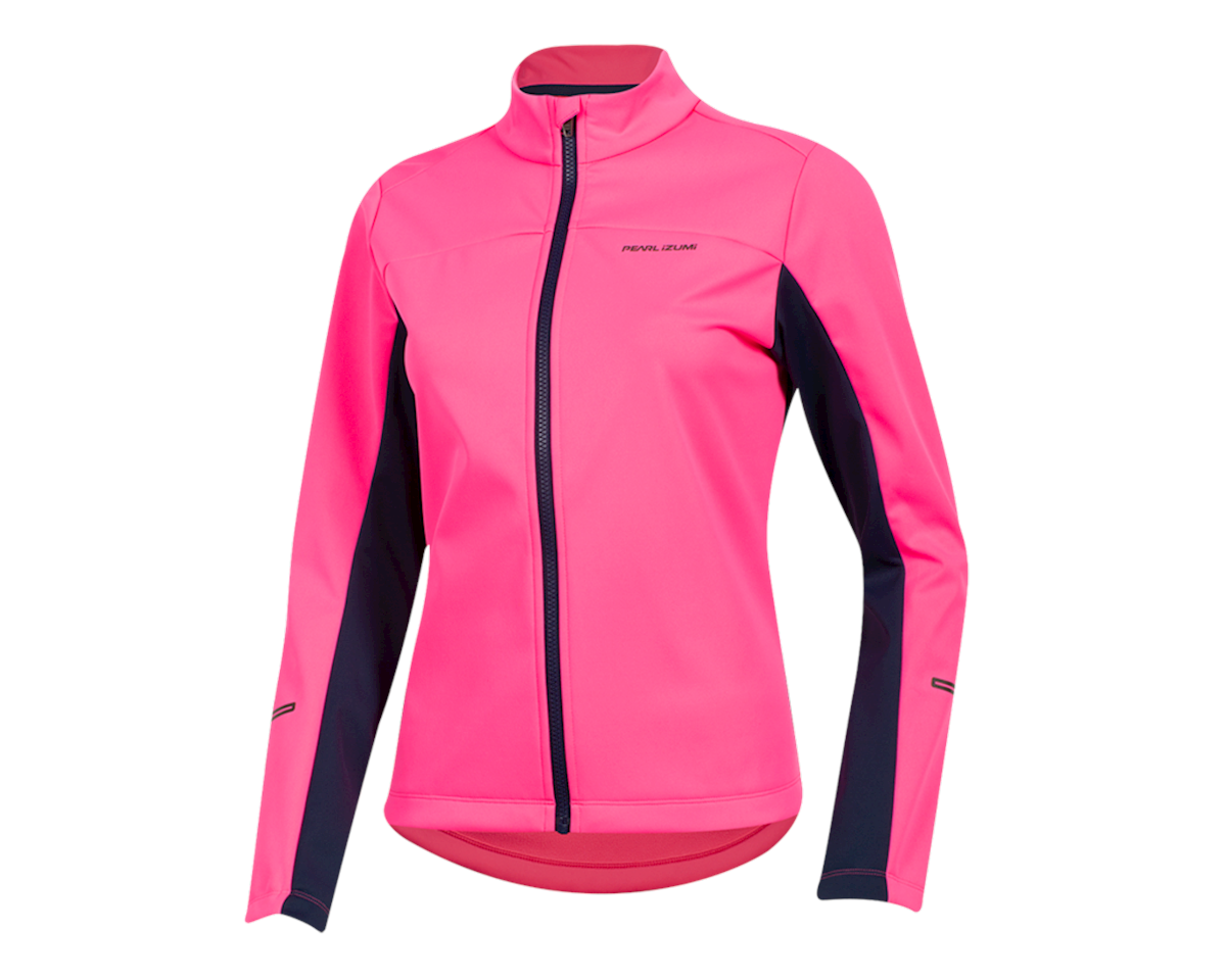 Pearl Izumi Women's Quest AmFIB Jacket (Screaming Pink/Navy) (XS)
