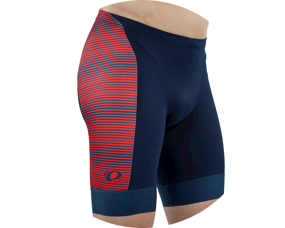 Pearl Izumi Elite Graphic Tri Short (Torch Red/Navy Stripe) (XL)