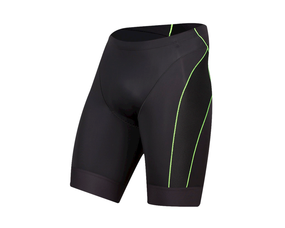 Pearl Izumi Elite Tri Shorts (Black/Screaming Green) (L)