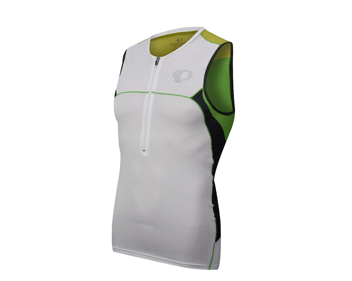 Pearl Izumi Elite In-R-Cool Tri Sleeveless Jersey (Green/White)