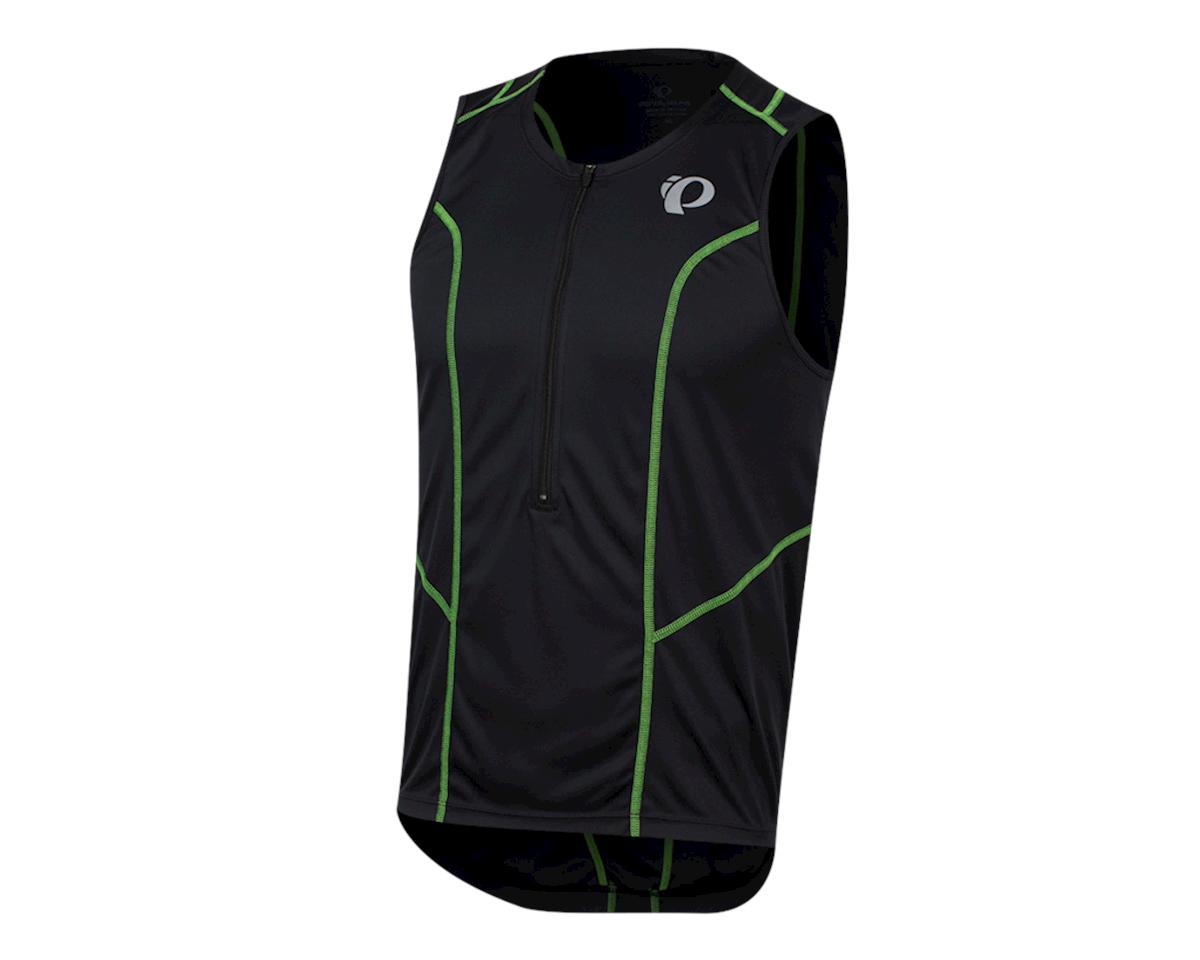 Pearl Izumi Select Pursuit Tri Jersey (Black/Screaming Green) (L)