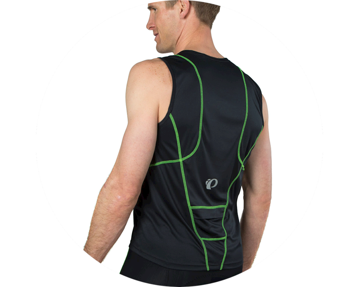 Pearl Izumi Select Pursuit Tri Jersey (Black/Screaming Green) (M)