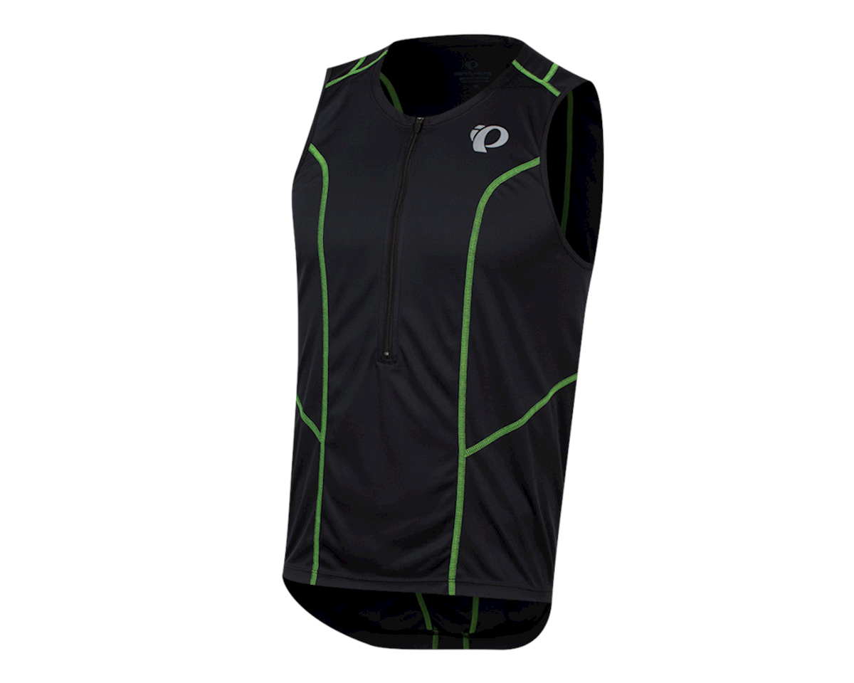 Pearl Izumi Select Pursuit Tri Jersey (Black/Screaming Green) (XS)