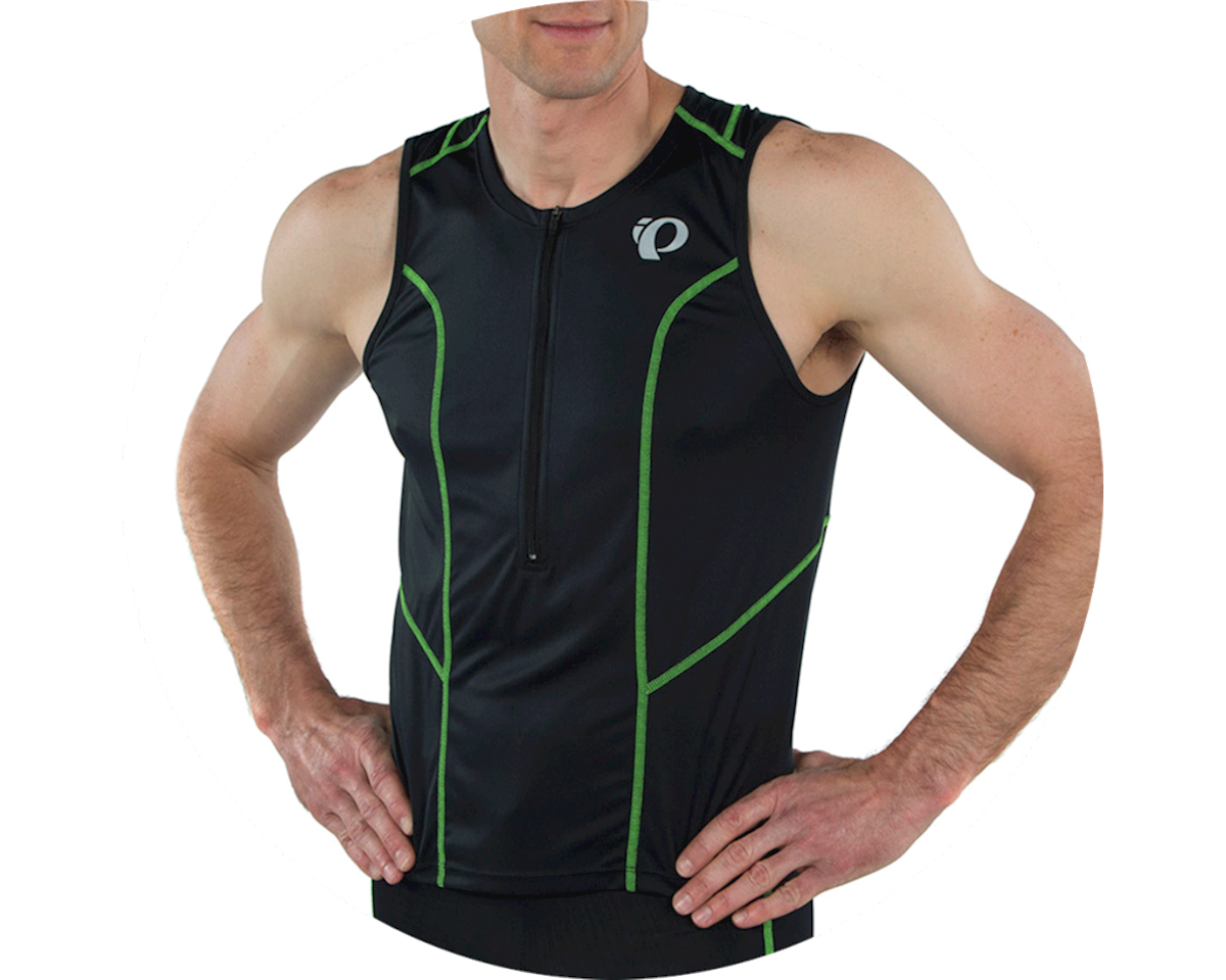 Image 4 for Pearl Izumi Select Pursuit Tri Jersey (Black/Screaming Green) (XS)