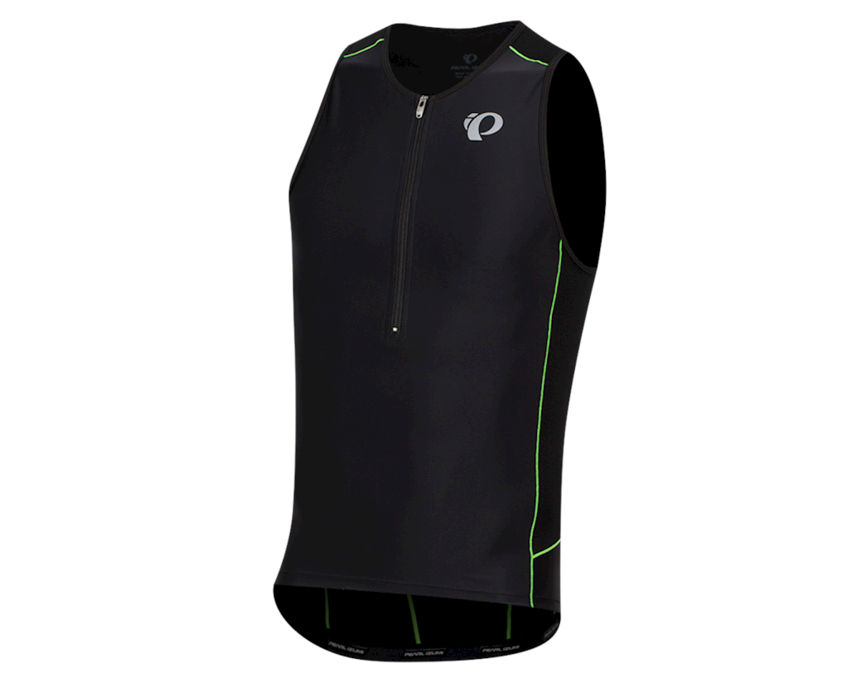 Pearl Izumi Elite Pursuit Tri Singlet (Black/Screaming Green) (XL)