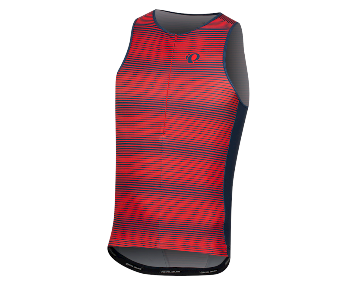 Pearl Izumi Elite Pursuit Tri Singlet (Torch Red/Navy Stripe) (XL)