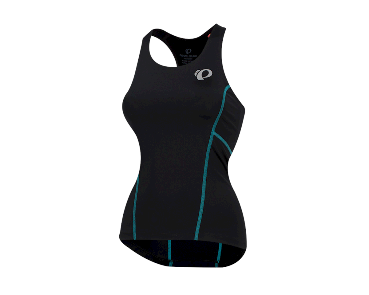 Pearl Izumi Women's Select Pursuit Tri Tank (Black/Breeze) (XL)