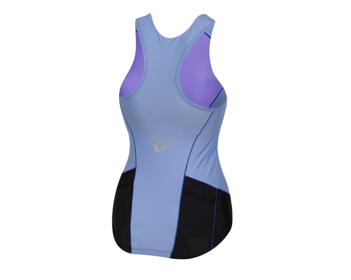 Pearl Izumi Women's Elite Pursuit Tri Tank (Black/Lavender) (2XL)