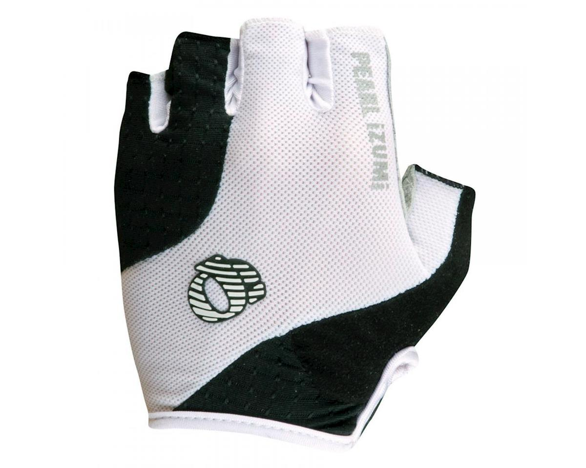 Pearl Izumi Elite Gel Short Finger Bike Gloves (White/Black)