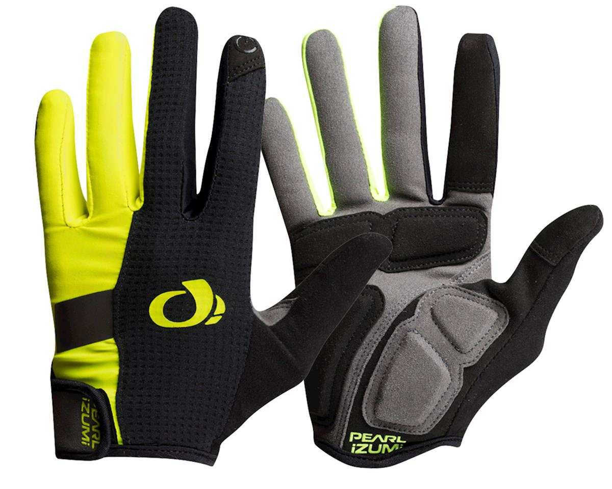 Pearl Izumi Elite Gel Full Finger Glove (Black/Screaming Yellow) (L)