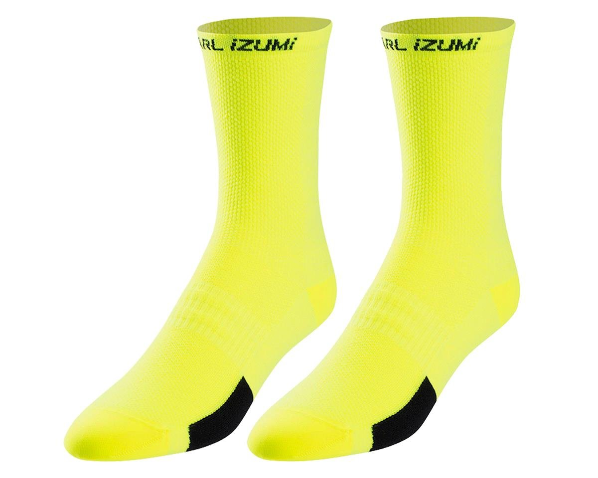 Pearl Izumi Men's ELITE Tall Sock (Core Screaming Yellow)
