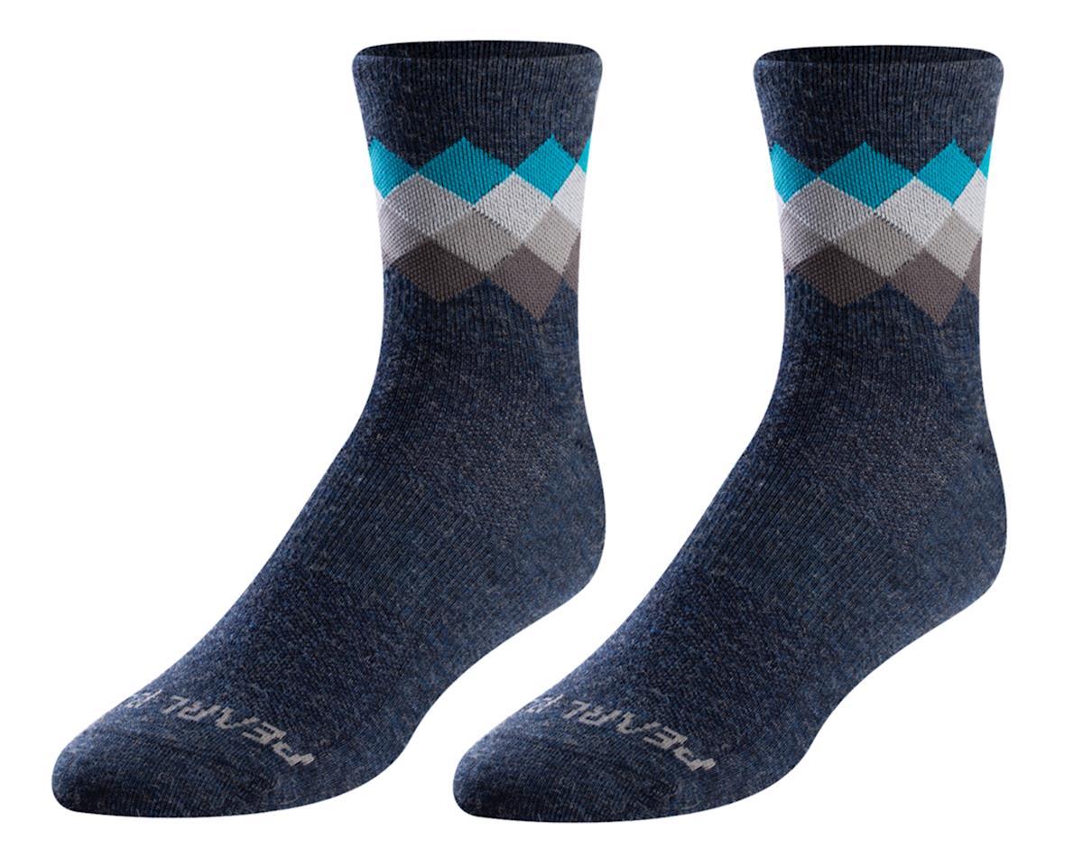 Pearl Izumi Merino Wool Sock (Navy/Teal Solitare) (XL)