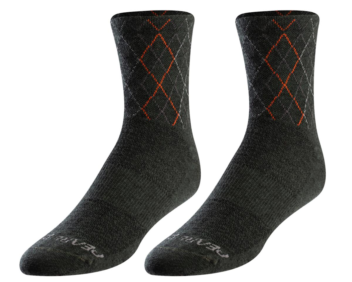 Pearl Izumi Merino Wool Sock (Forest/Flame Crossing)