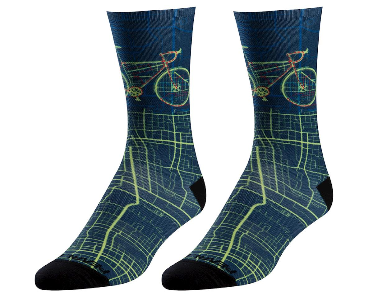 Pearl Izumi PRO Tall Sock (Navy City Bike) (XL)