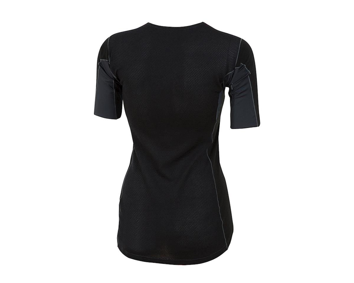 Pearl Izumi Womens Transfer Short Sleeve Wool Baselayer (Black) (L)