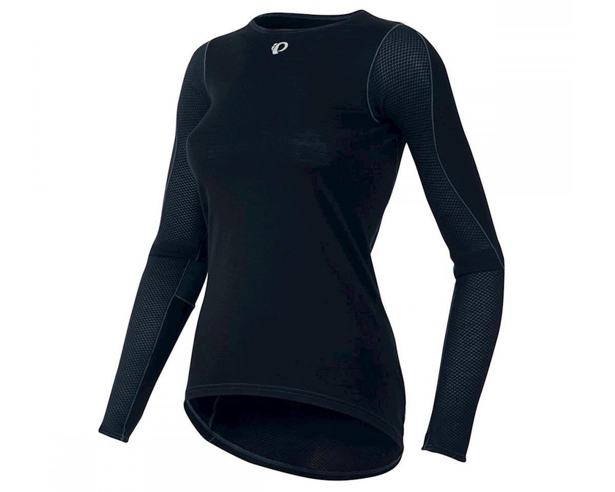 Pearl Izumi Womens Transfer Long Sleeve Wool Baselayer (Black) (L)