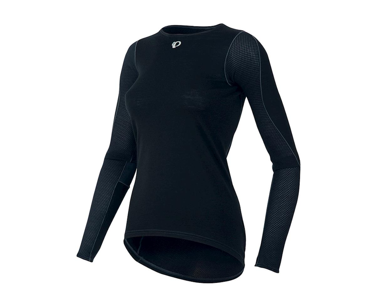 Pearl Izumi Womens Transfer Long Sleeve Wool Baselayer (Black) (XS)