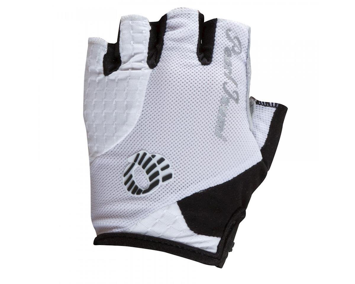 Pearl Izumi Elite Gel Women's Short Finger Bike Gloves (White)