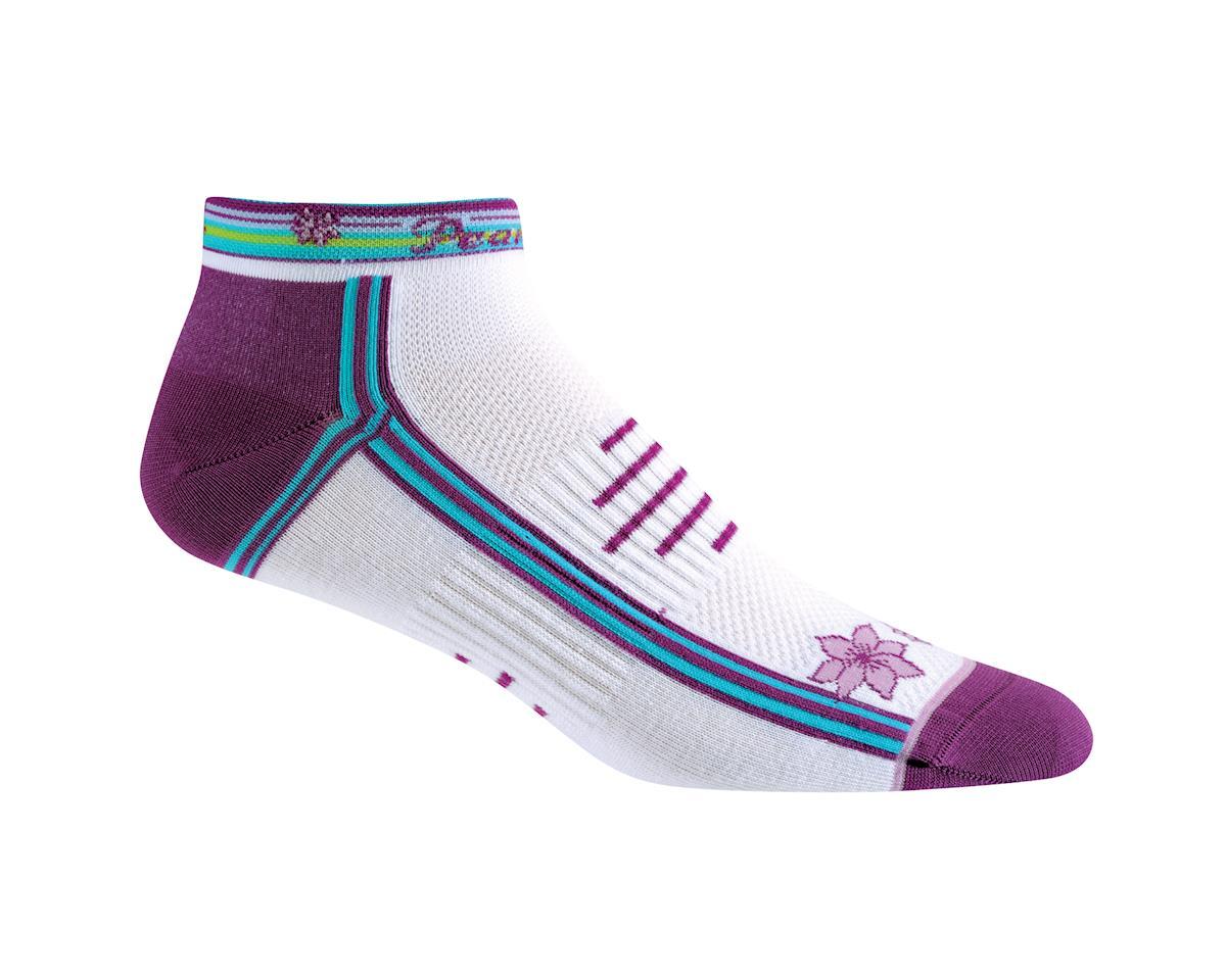 Pearl Izumi Women's Elite Low Socks (White/Scuba Blue) (Small 5-7)