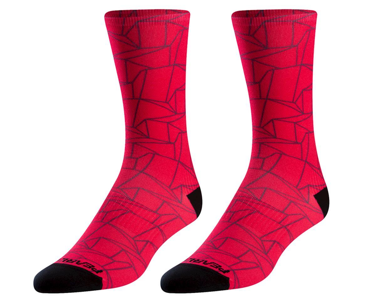 Pearl Izumi Women's Pro Tall Socks (Virtual Pink Origami) (L)
