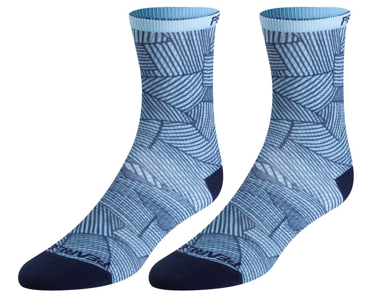 Pearl Izumi Women's PRO Tall Sock (Air/Navy Lucent) (L)