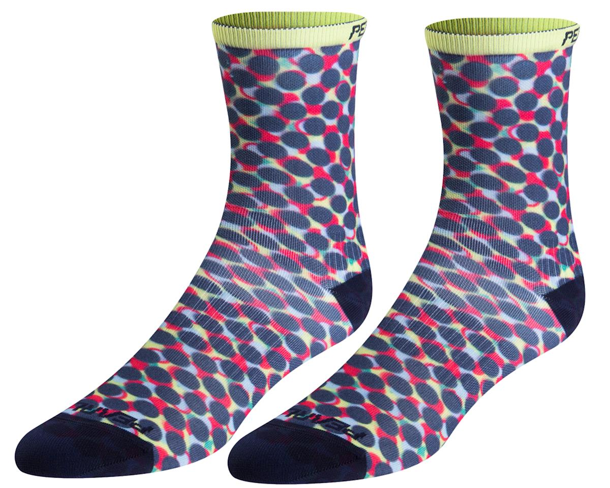 Pearl Izumi Women's PRO Tall Socks (Sunny Lime Layer Dot)