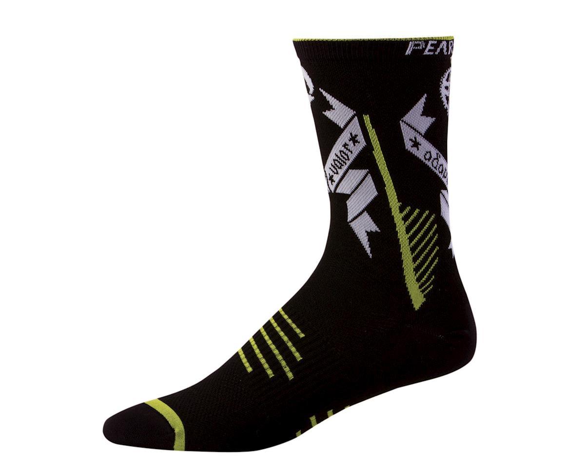 Pearl Izumi Elite Tall LTD Socks (Black / Green) (Xlarge)