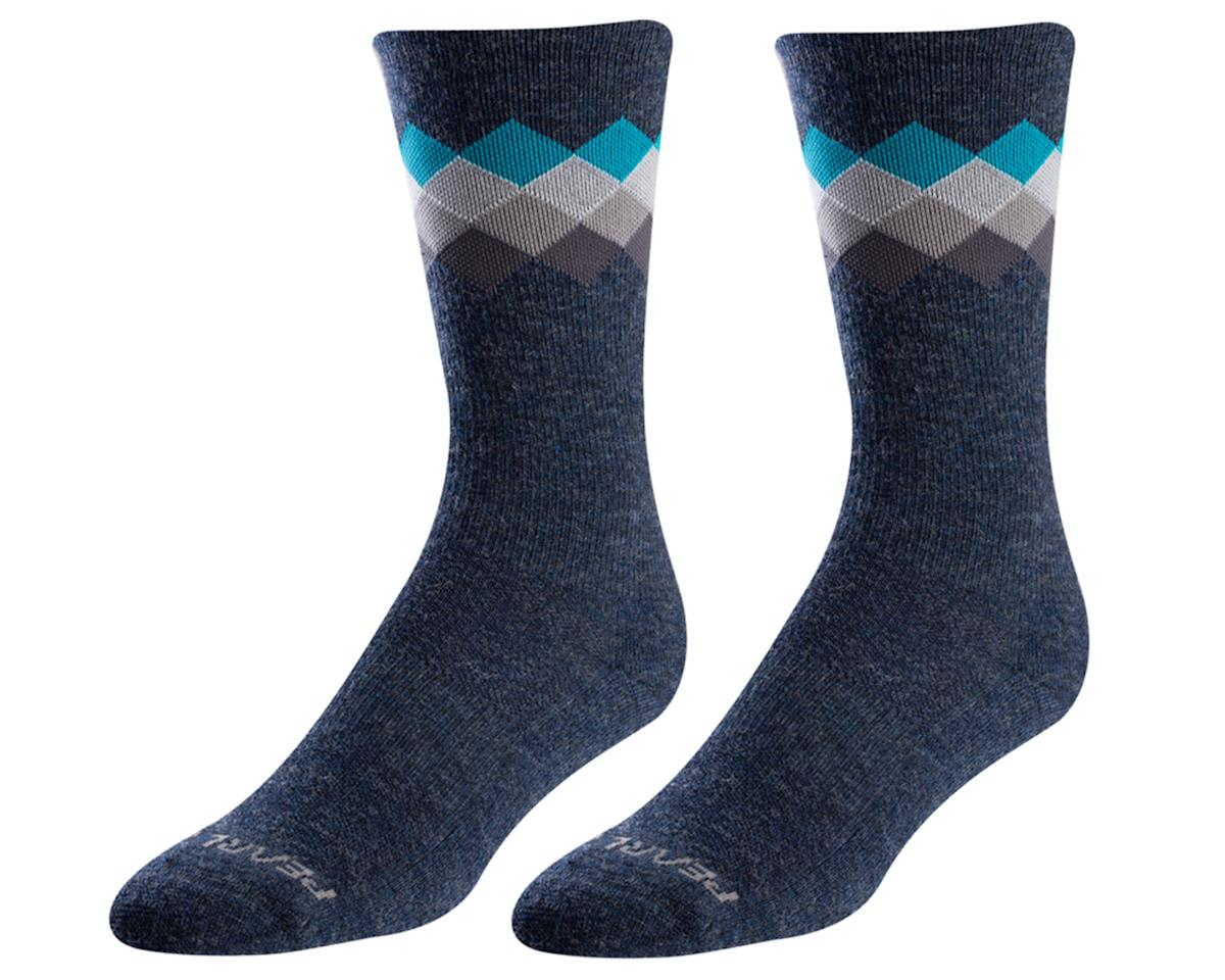 Pearl Izumi Merino Thermal Wool Sock (Navy/Teal Solitare) (L)