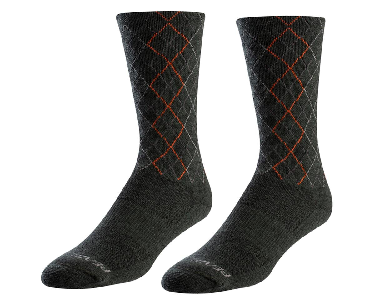 Pearl Izumi Merino Thermal Wool Sock (Forest/Flame Crossing) (L)