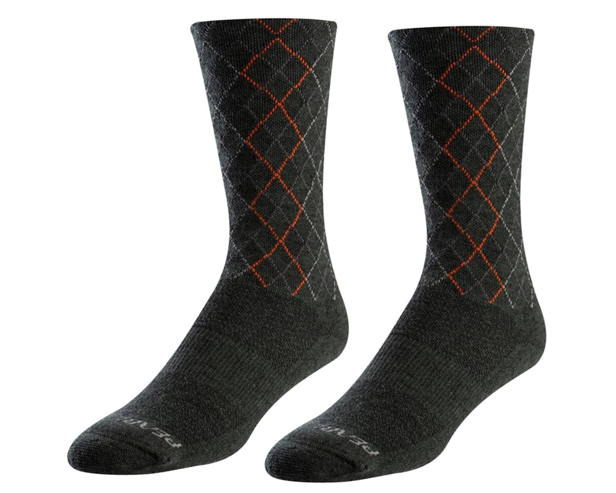 Pearl Izumi Merino Thermal Wool Sock (Forest/Flame Crossing) (M)