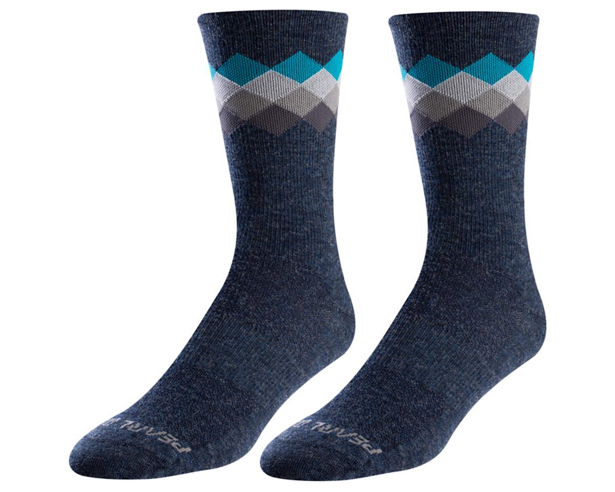 Pearl Izumi Merino Wool Tall Sock (Navy/Teal Solitare) (L)