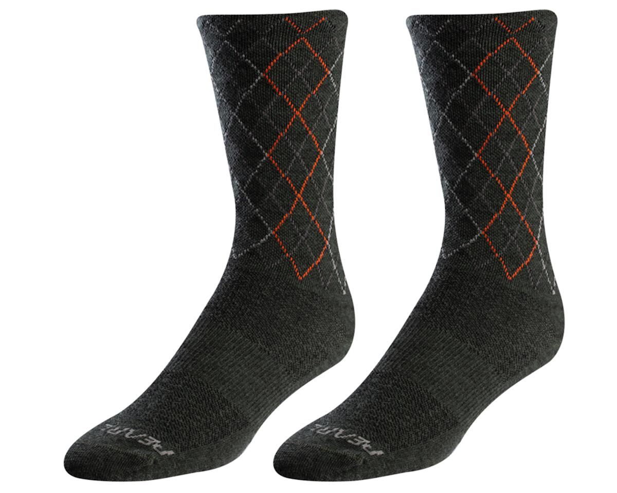 Pearl Izumi Merino Wool Tall Sock (Forest/Flame Crossing) (L)