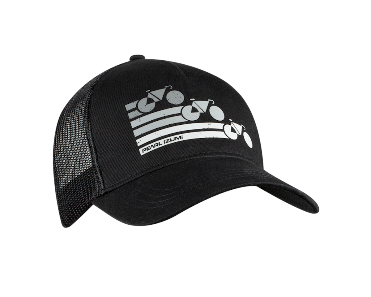 Pearl Izumi Recycled Trucker Hat (Bike Stripe Black)