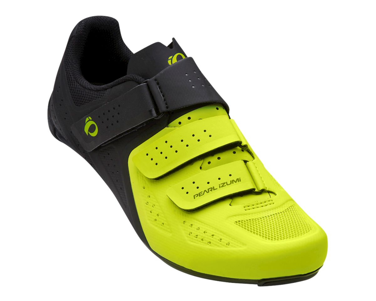Pearl Izumi Select Road V5 Shoes (Black/Screaming Yellow) (40)