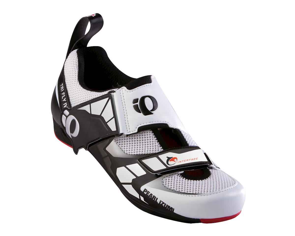 Pearl Izumi Tri Fly Iv Tri Shoe: Black/White~ Men's Euro 41