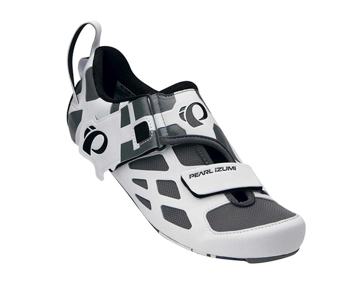 Pearl Izumi Tri Fly V Carbon Bike Shoes (White/Black)