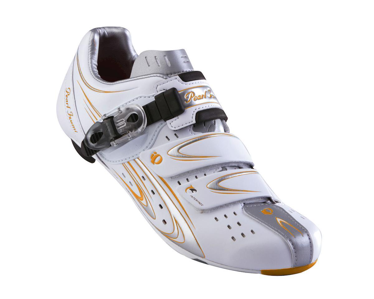 Pearl Izumi Elite Iii Road Shoe: White/Silver~ Women's Euro 37