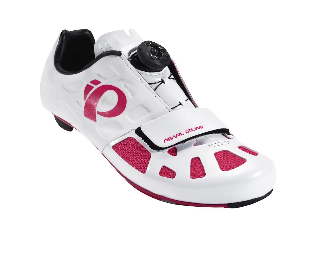 Image 1 for Pearl Izumi Women's Elite Road IV Cycling Shoes (White/Pink Punch)