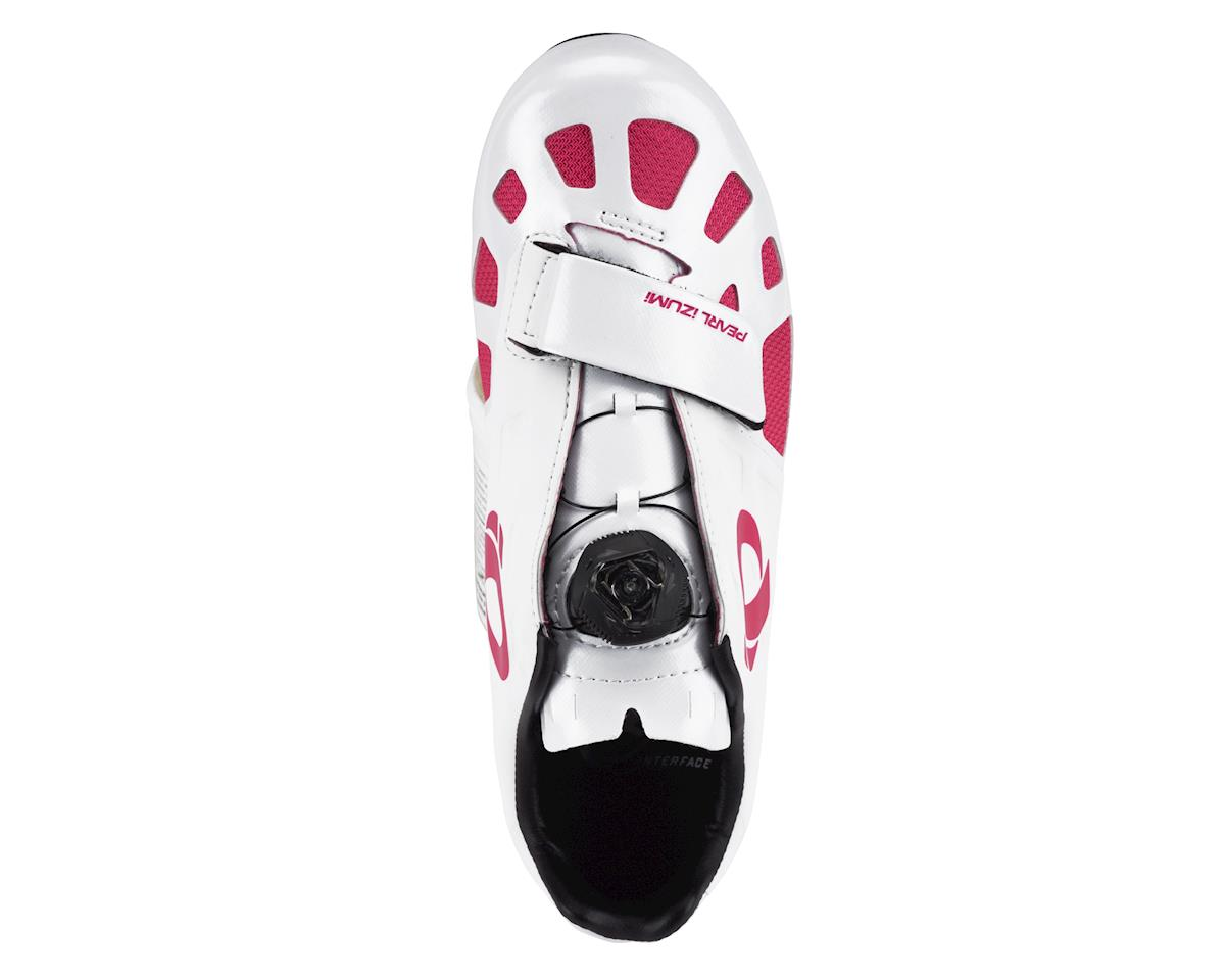 Image 2 for Pearl Izumi Women's Elite Road IV Cycling Shoes (White/Pink Punch)