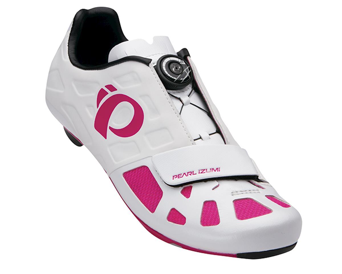 Pearl Izumi Women's Elite RD IV Bike Shoes (White/Pink Punch) (40)