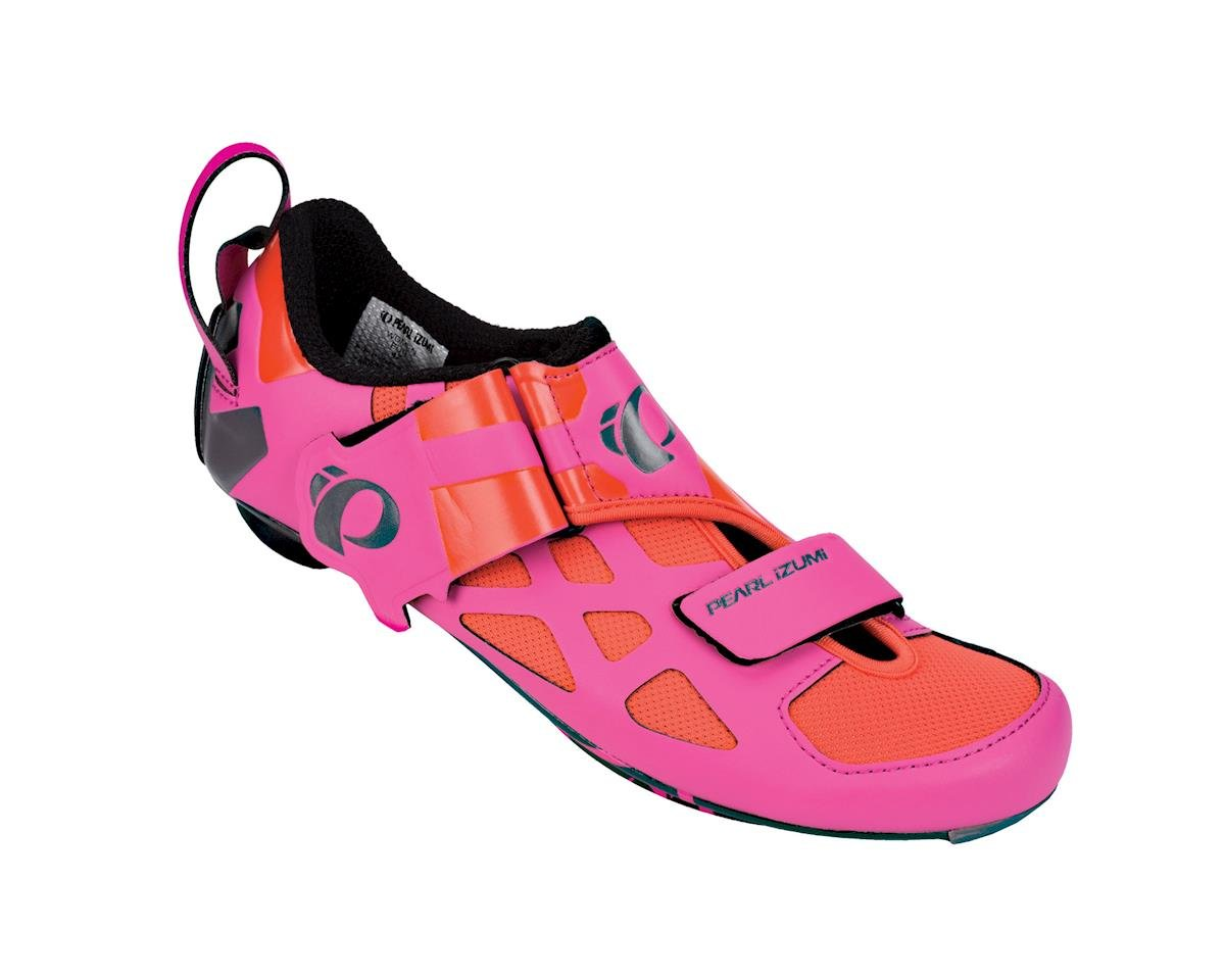 Pearl Izumi Women's Tri Fly V Carbon Triathlon Shoes (Pink) (40)