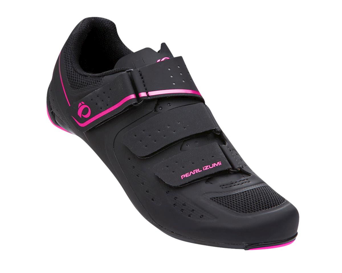 Pearl Izumi Womens Select Road V5 Studio Shoes (Black/Pink) (37)