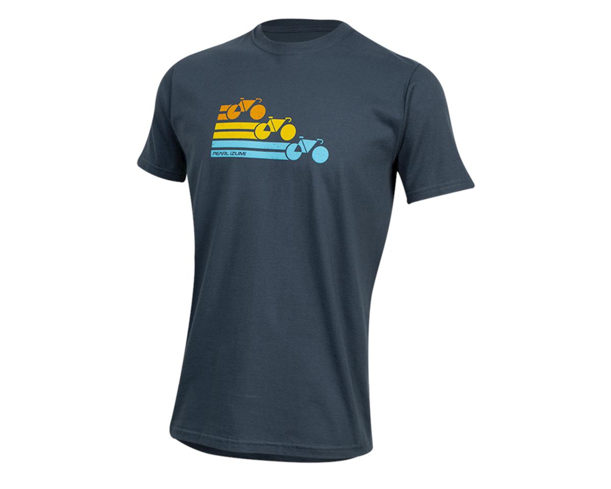 Pearl Izumi Organic Cotton T-Shirt (Bike Stripe Navy) (XL)