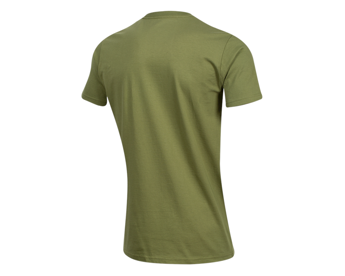 Pearl Izumi Organic Cotton T-Shirt (Lines Logo Olive) (L)