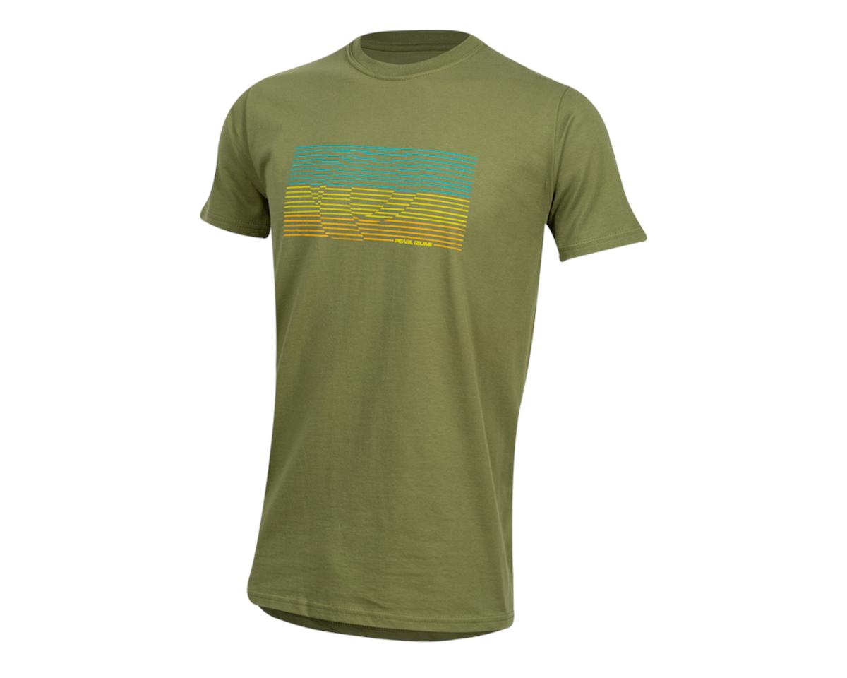 Pearl Izumi Organic Cotton T-Shirt (Lines Logo Olive) (2XL)