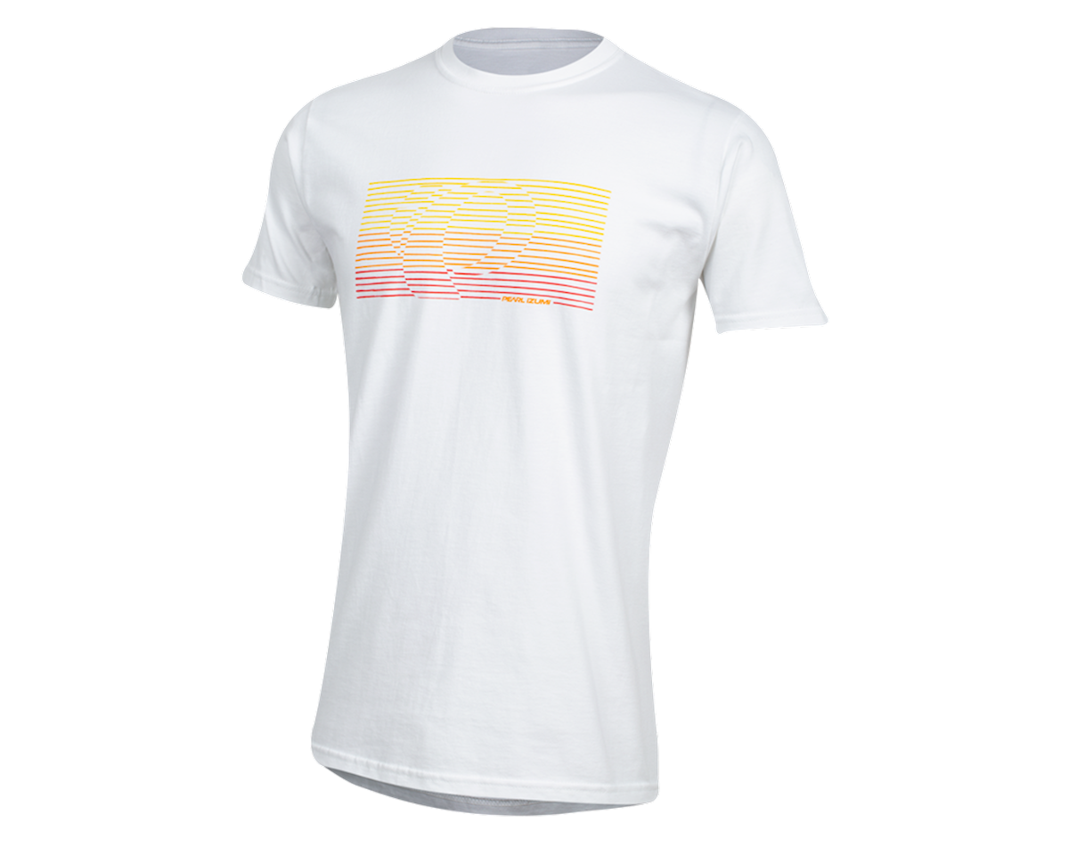 Pearl Izumi Organic Cotton T-Shirt (Lines Logo White) (L)